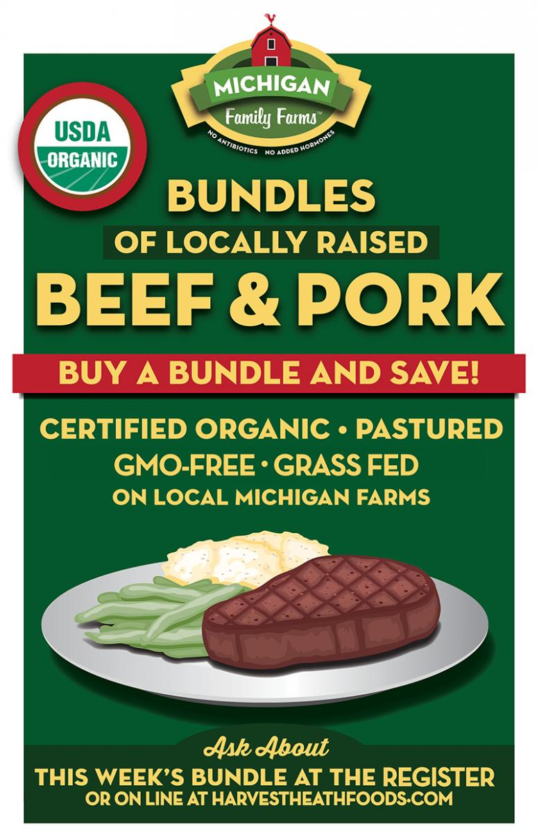 LOCAL ORGANIC MEAT MICHIGAN FAMILY FARMS AND HARVEST HEALTH FOODS