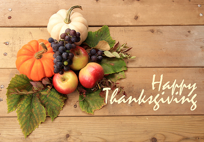 Happy Thanksgiving - Harvest Health Foods is Closed November 23, 2017