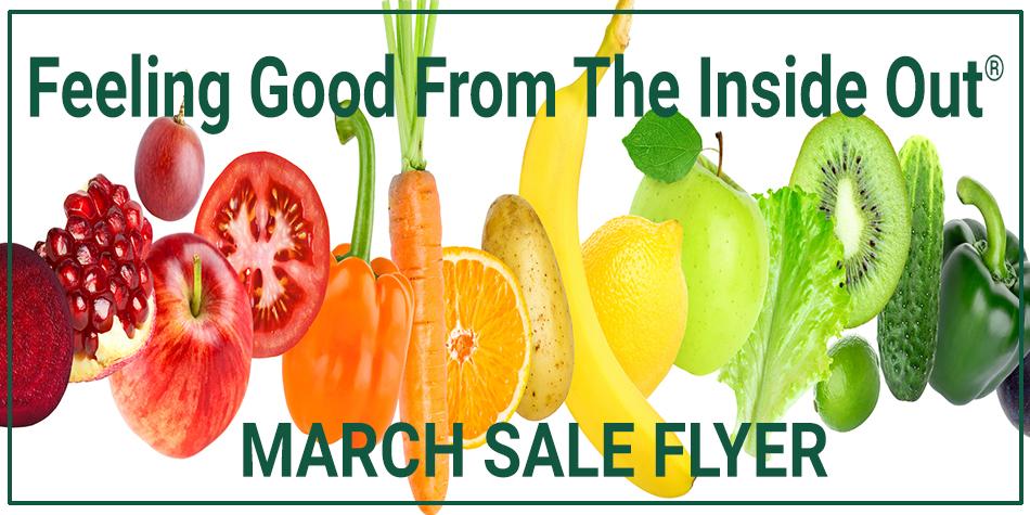 March 2018 Harvest Health Foods Sale Flyer