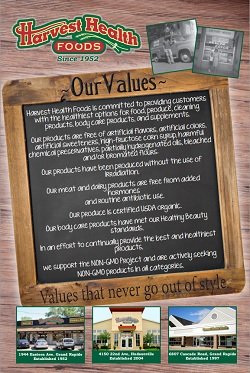 Harvest Health Foods Values