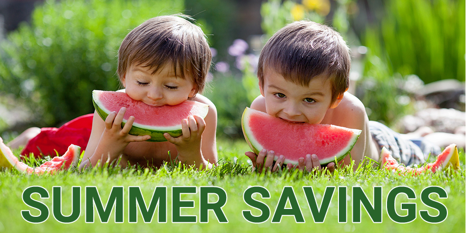 Sweet Summertime Savings at Harvest Health Foods