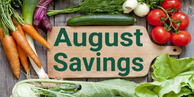 Harvest Health Foods August Savings Flyer