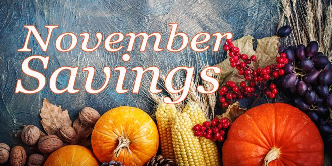 Healthy Holiday Savings Begin with Harvest Health Foods