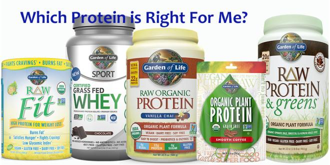 Garden Of Life Protein Choices