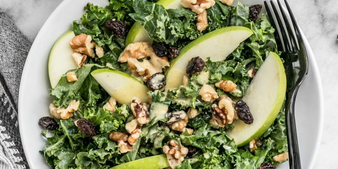 Apple Kale and Walnut Salad for Winter