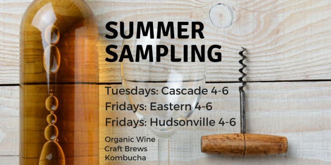 Summer Sampling at Harvest Health Foods