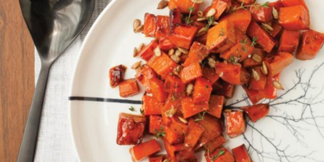 Maple Glazed Sweet Potatoes