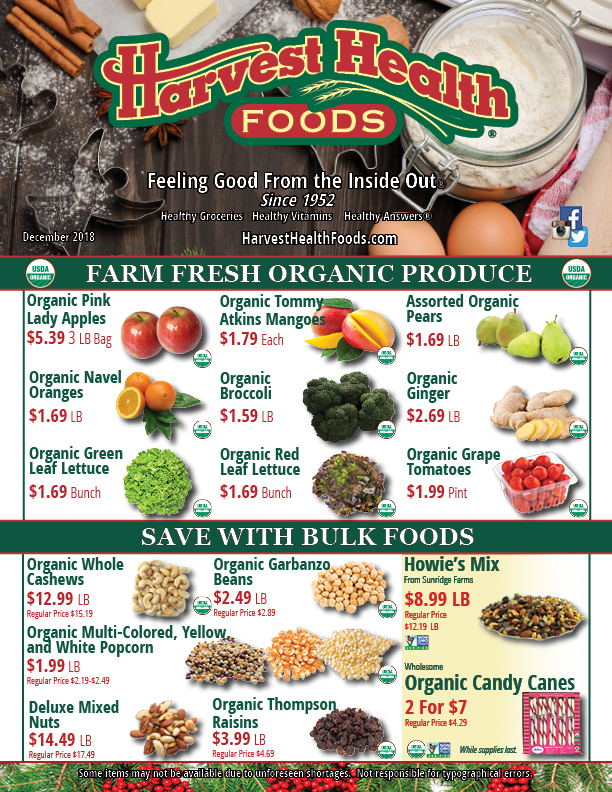 Harvest Health Foods December 2018 Sale Flyer