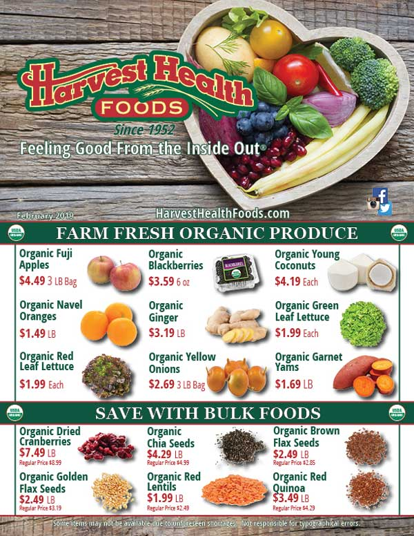 Harvest Health Foods February 19 Sale Flyer