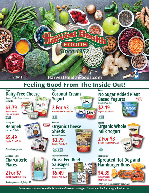 2019 June Sale Flyer Harvest Health Foods