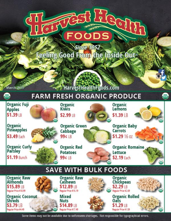 Harvest Health Foods Savings Flyer
