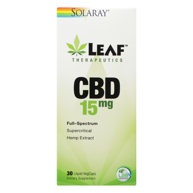 SOLARAY LEAF 15 MG CBD