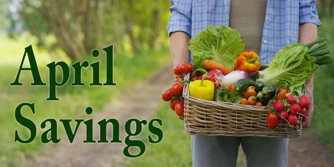April Spring Time Savings Flyer