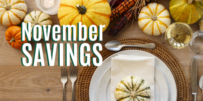 Celebrating Thanksgiving Savings All Month Long
