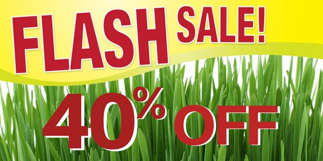 HARVEST HEALTH FOODS FLASH SALE