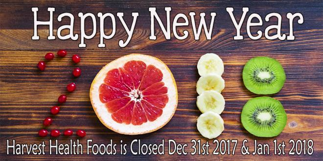 Happy New Year 2018 From Harvest Health Foods