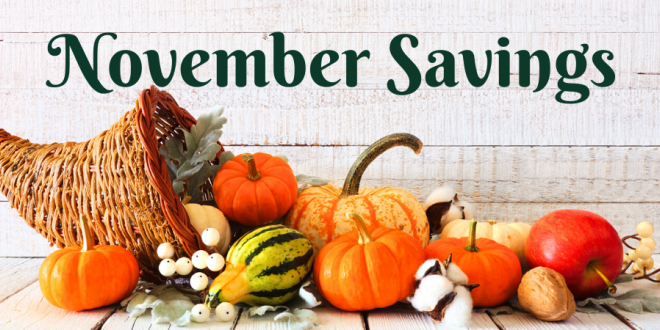 Harvest Health Foods November Sale Flyer