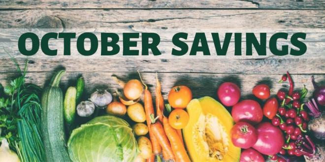 October Savings Flyer - Harvest Health Foods