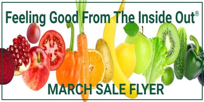 March 2018 Harvest Health Foods Sale Flyer