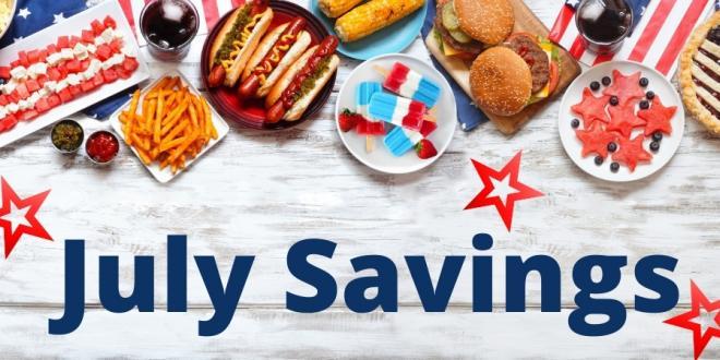 Shop July Savings Flyer
