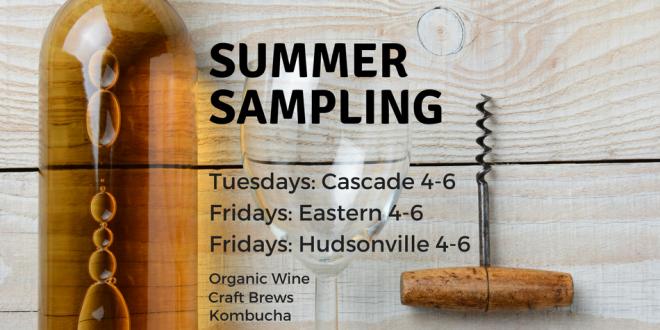 Summer Sampling at Harvest Health Foods