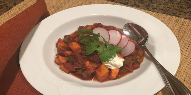 Veggie Chili with Sweet Potatoes  Harvest Health Foods