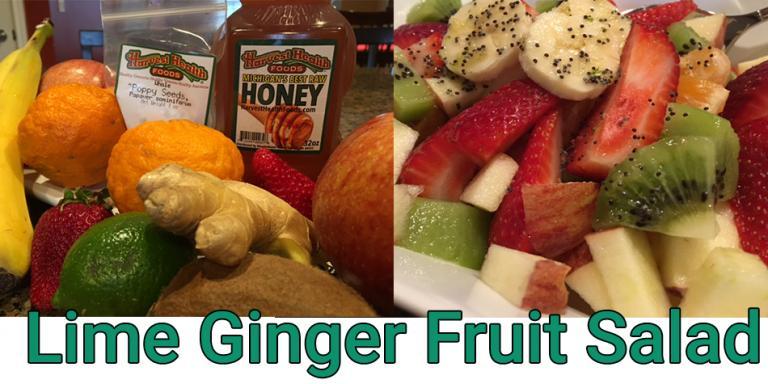 Lime Ginger Winter Fruit Salad